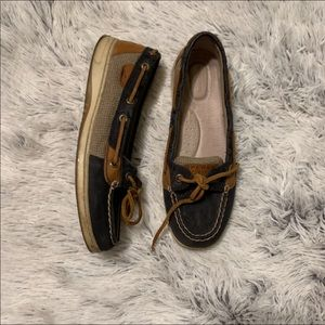 Sperry's Whale & Anchor Print Slip-On Boat Shoe